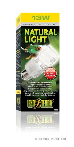 УФ-лампа EXO-TERRA Natural Light (Repti Glo 2.0) compact 13 вт